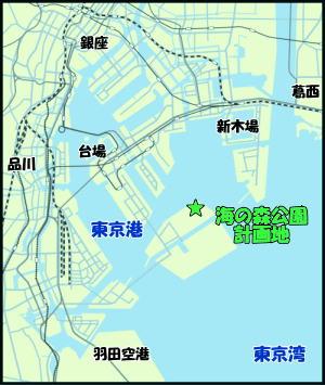 海の森公園計画地の地図