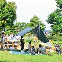 キャンプ バーベキュー写真