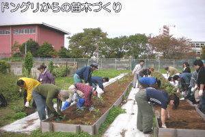 ボランティアによる苗木づくり活動画像