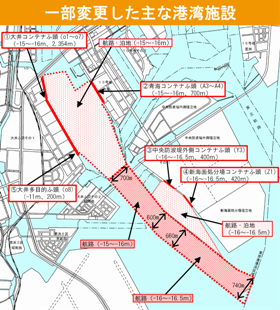 一部変更した主な港湾施設